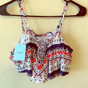 NWT Cupshe bikini top